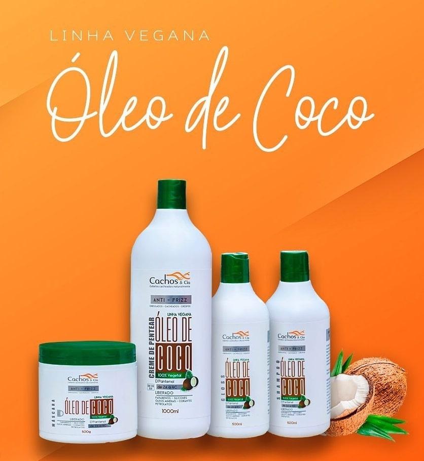 Creme de Pentear de Coco & D'Pantenol Vegano e Liberado 1000ml