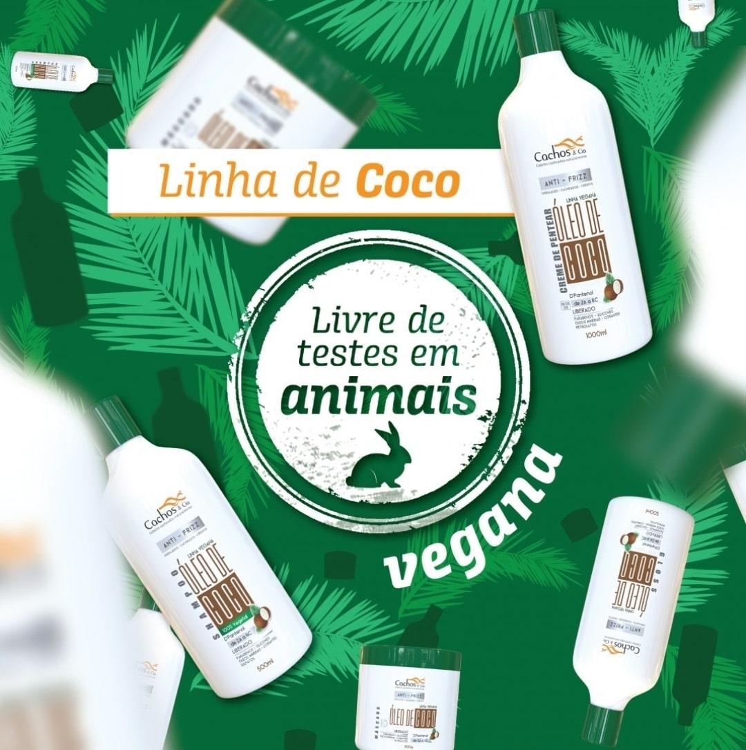 Creme de Pentear de Coco & D'Pantenol Vegano e Liberado 300ml
