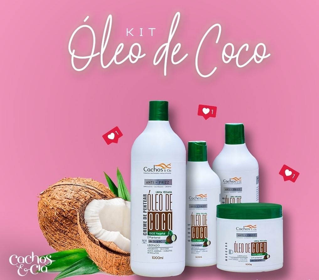 Kit Linha de Coco - Vegana e Liberada - 2 Cremes de Pentear