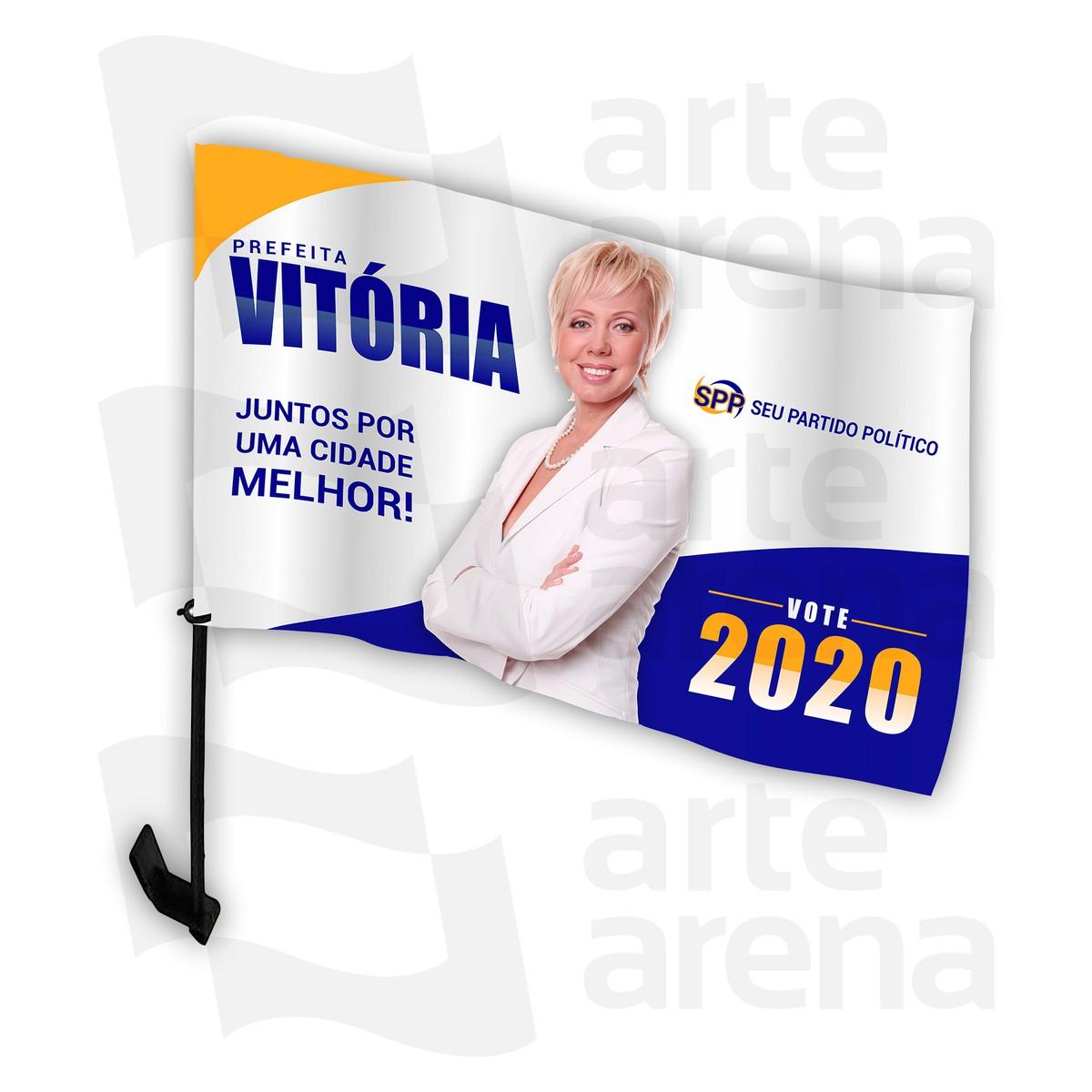 Bandeira Campanha eleitoral para Carro Personalizada