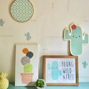 Papel de Parede Happy Cactus - Vinílico Autocolante