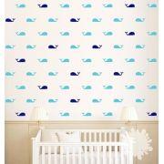 Papel de Parede Whales and Whales - Vinílico Autocolante