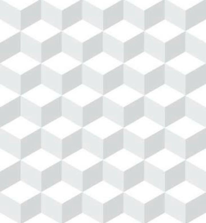 Papel de Parede Vinílico Autocolante Cubed White