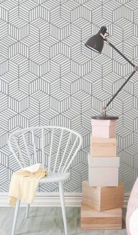 Papel de Parede Vinílico Autocolante Cubic Lines