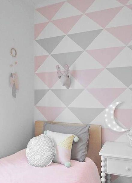 Papel de Parede Gray and Pink - Vinílico Autocolante
