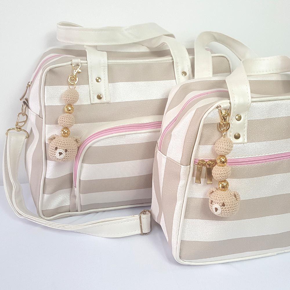 47624c5da7 Kit Bolsa Maternidade e Frasqueira Classic - Rosa
