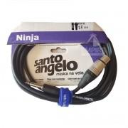 Cabo XLR P10 3.05M Santo Angelo Ninja HG