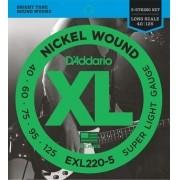 Encordoamento Baixo 5 Cordas 0.40 Daddario EXL220-5