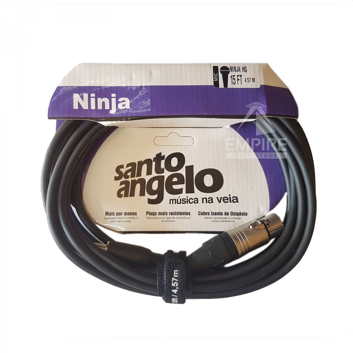 Cabo XLR P10 4.57M Santo Angelo Ninja HG