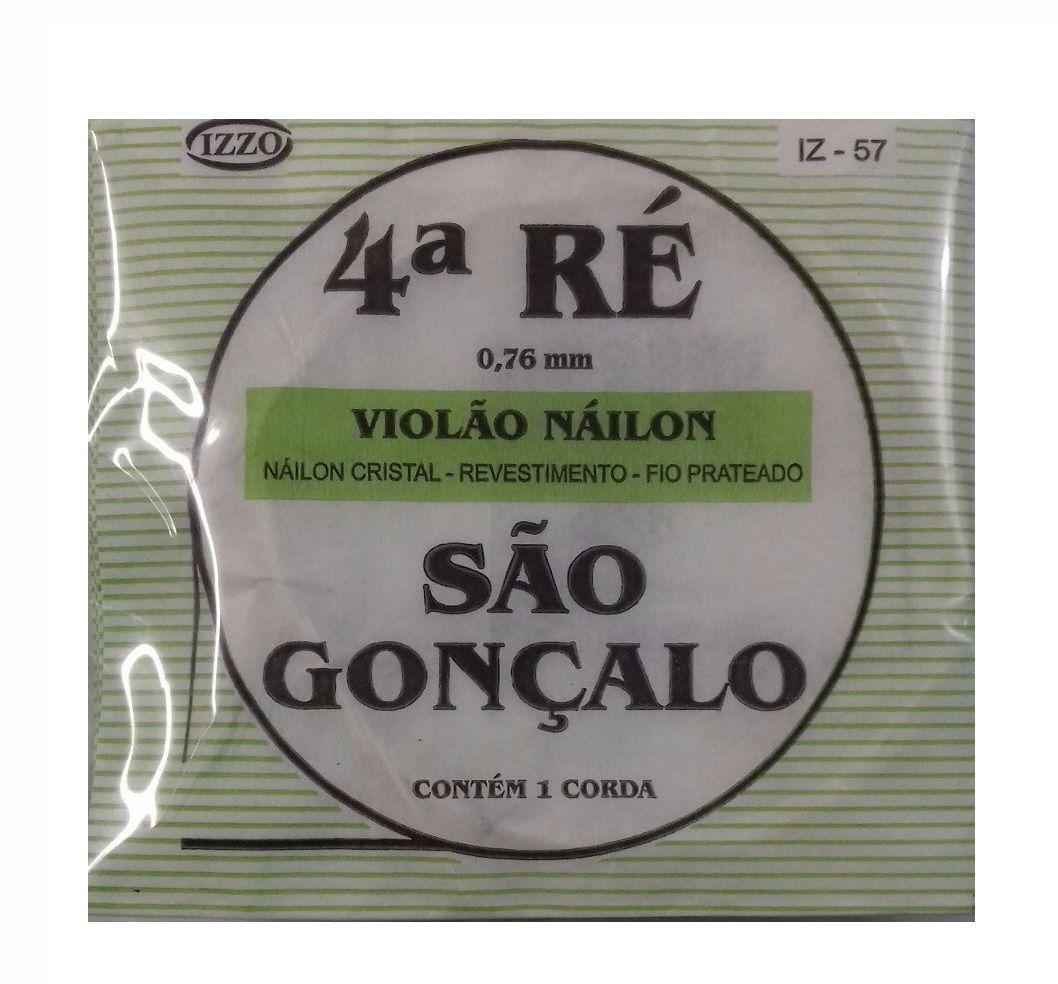 Corda Avulsa Nylon Cristal 4 Quarta Ré São Gonçalo 57