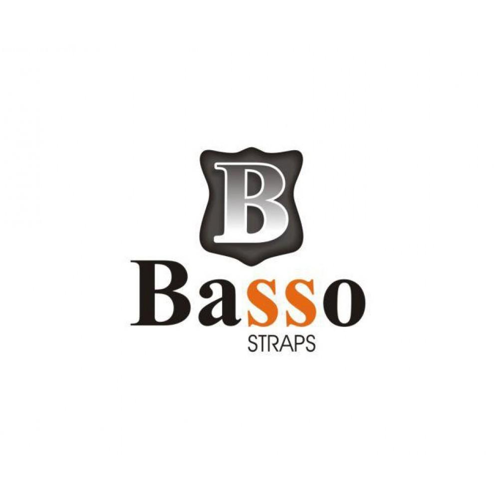 Correia Para Baixo De Acordeon Vaqueta Preta Basso Bx 01