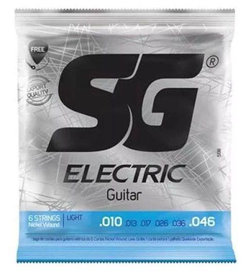 Encordoamento Guitarra 010 - Sg 5198 Corda Palheta