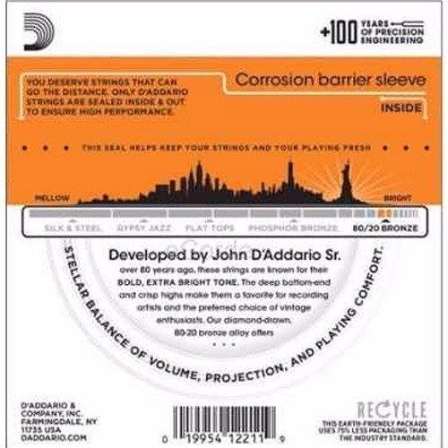 Encordoamento Violão Aço 0.10 Daddario EJ10-B