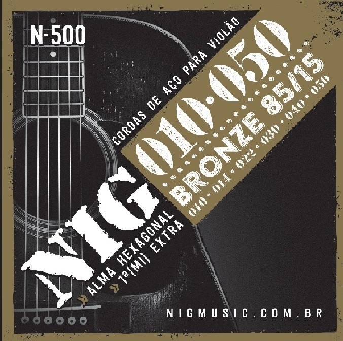 Encordoamento Violão Aço 0.10 NIG N-500