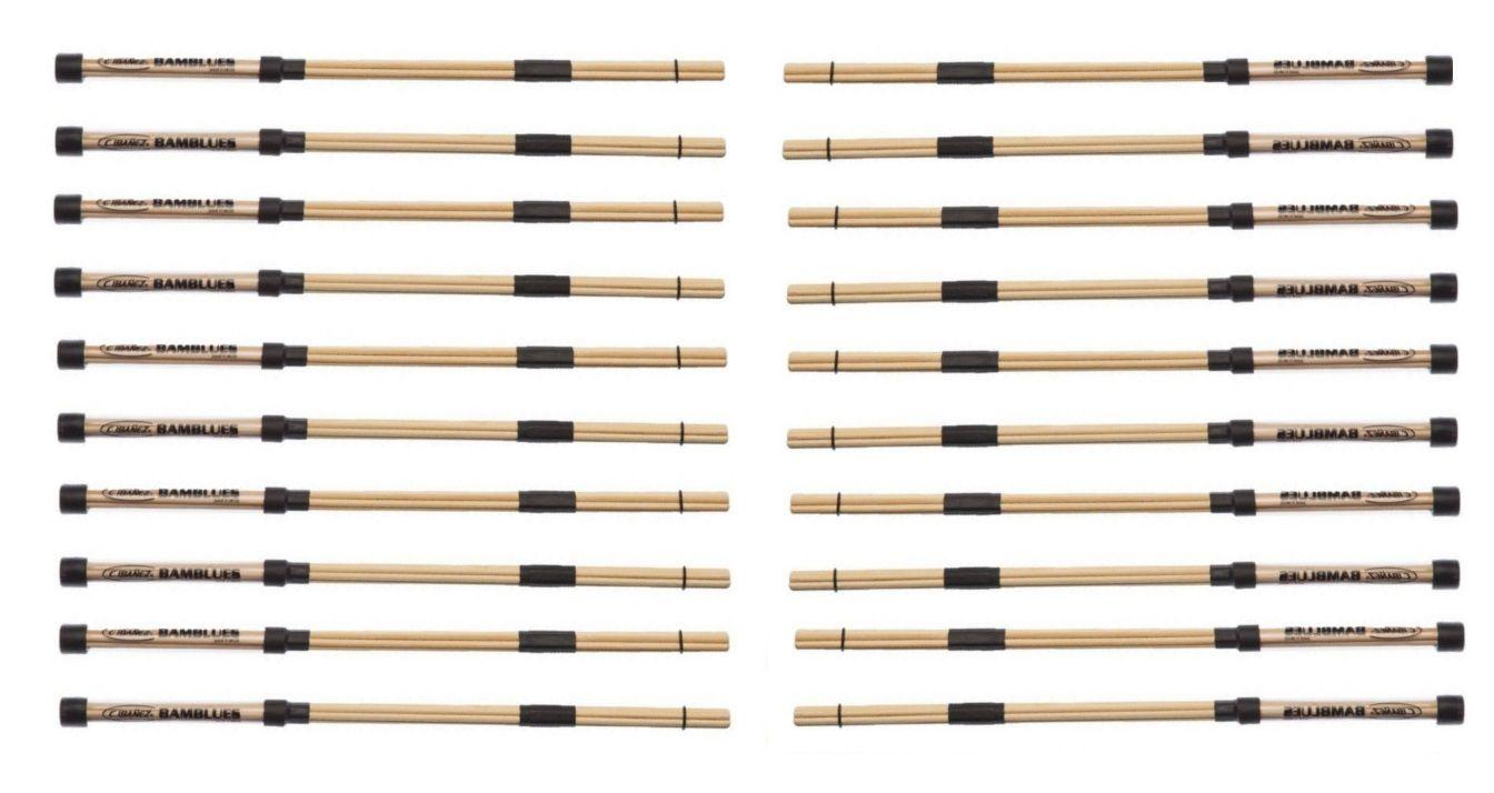 Kit 10 Pares Baqueta Acústica Em Bambu C. Ibanez Bamblues