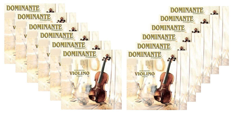 Kit 12 Encordoamento Cordas Violino Dominante Orchestral 89