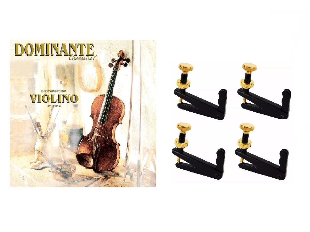 Kit 4 Microafinadores + Cordas Violino Dominante Orchestral