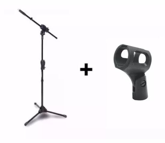 Kit para Microfone Pedestal Suporte Smmax Ibox + Cachimbo