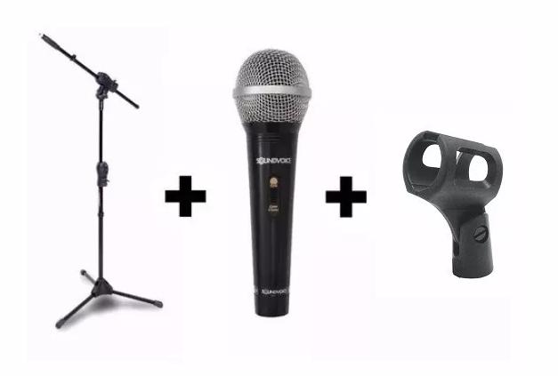 Kit Pedestal Smmax Ibox + Microfone Sm-100 + Cachimbo Sm-004