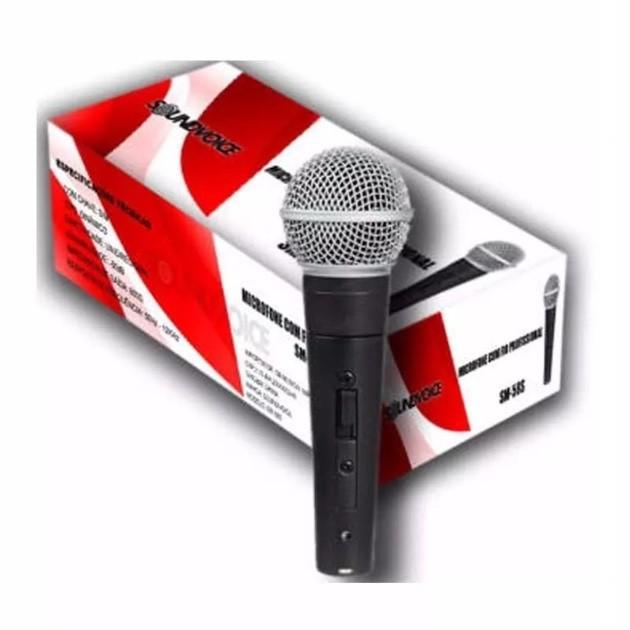 Microfone com fio Dinâmico Soundvoice SM-58S