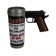 Caneca Prayer Is The Best Pistol Mug