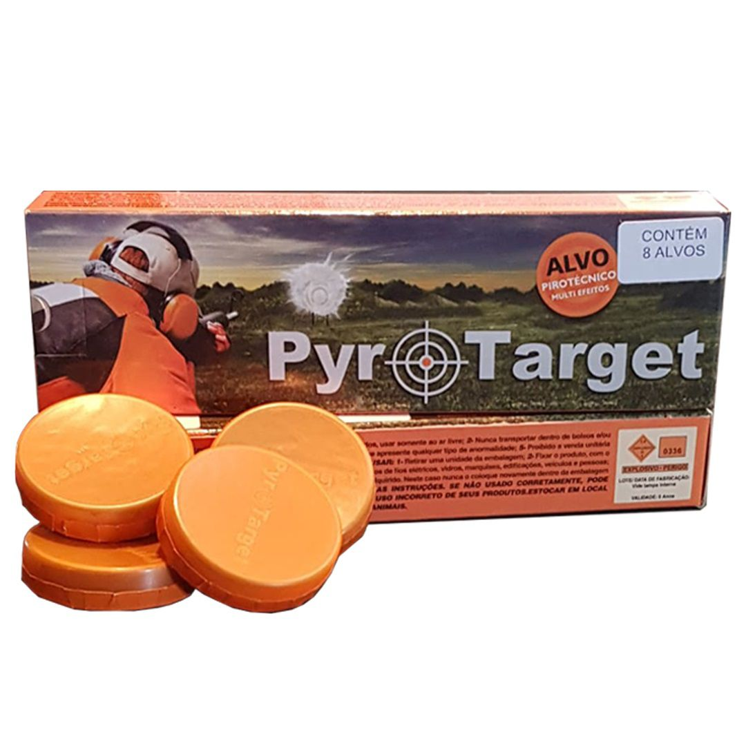 Alvo explosivo da Chakal Pyro Target - Caixa com 8 Unidades