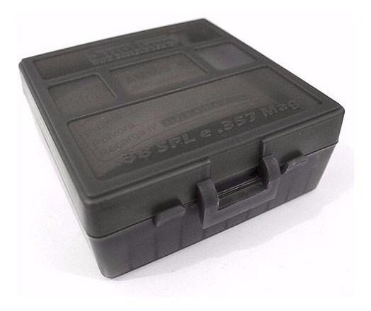 CAIXA PARA MUNIÇÃO BOX 100 - .38SPL e .357Mag - FUMÊ