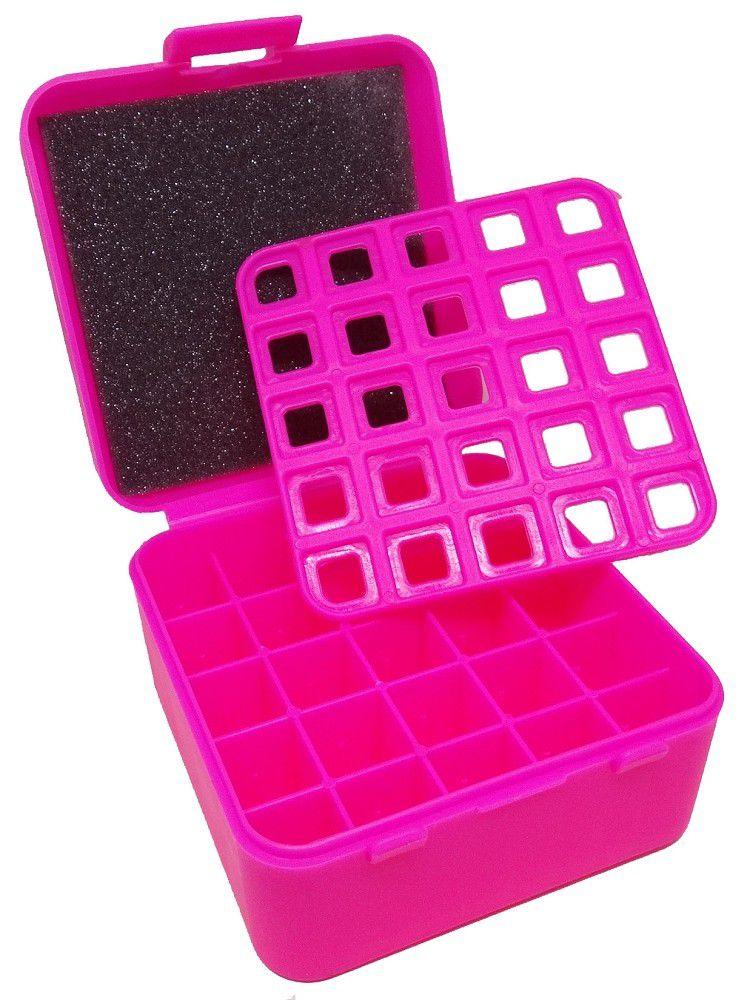 CAIXA PARA MUNIÇÃO BOX 25 - 12GA / 20GA / 36GA - ROSA