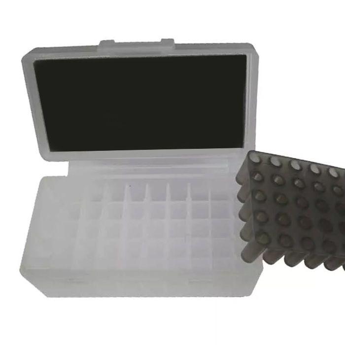 CAIXA PARA MUNIÇÃO BOX 50 - .380ACP e 9mm - BRANCO