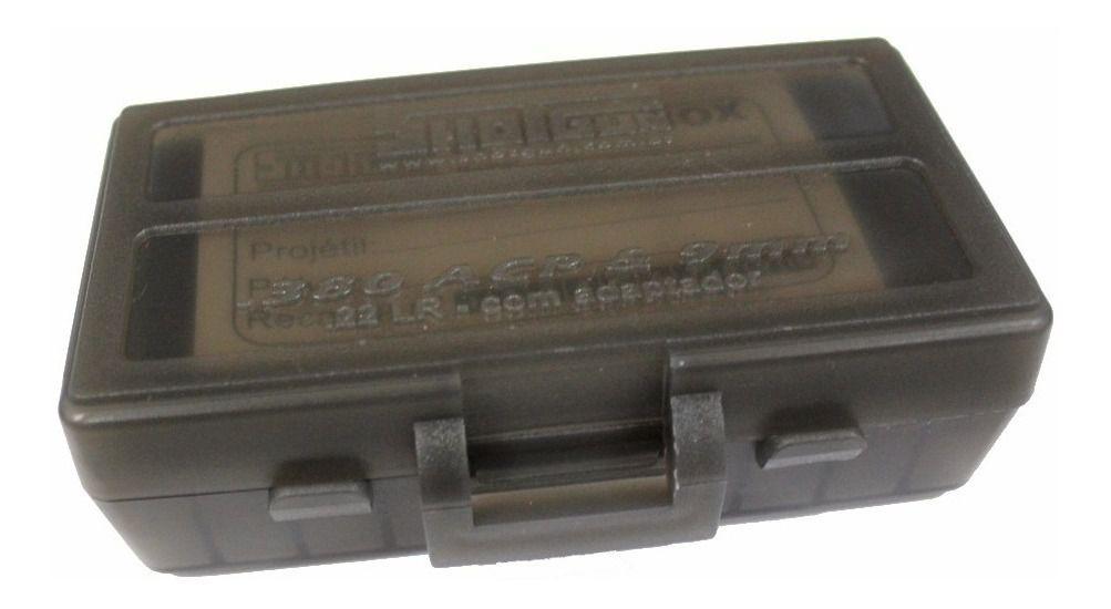 CAIXA PARA MUNIÇÃO BOX 50 - .380ACP e 9mm - FUMÊ