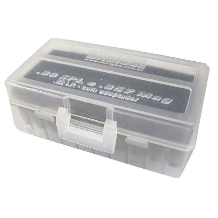 CAIXA PARA MUNIÇÃO BOX 50 - .38SPL e .357Mag - BRANCO