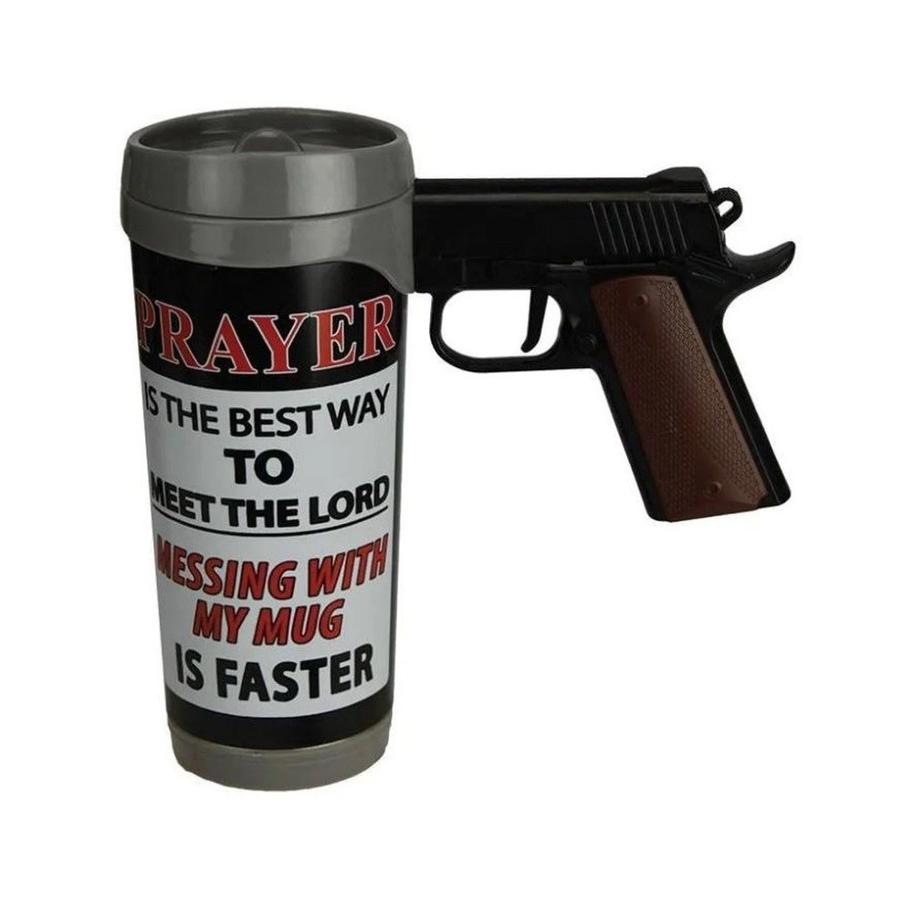 Caneca Prayer Is The Best Pistol Mug