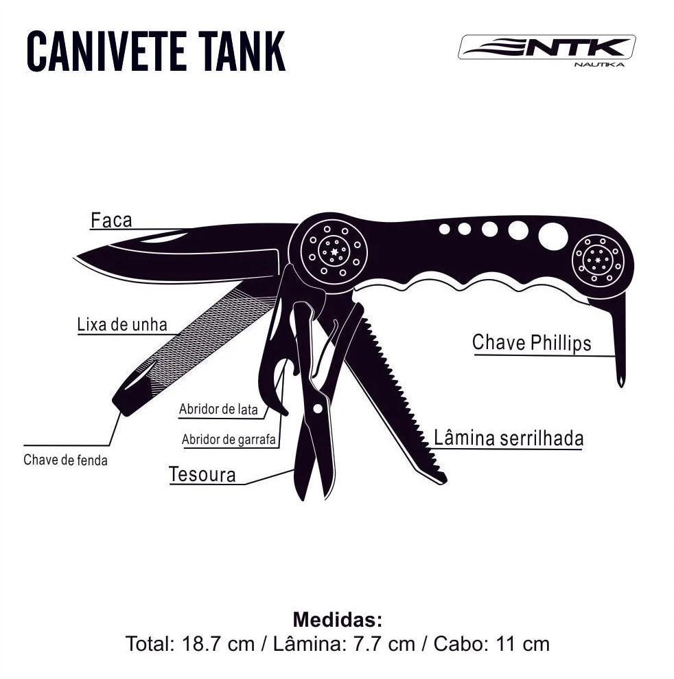Canivete Multifunção Tank
