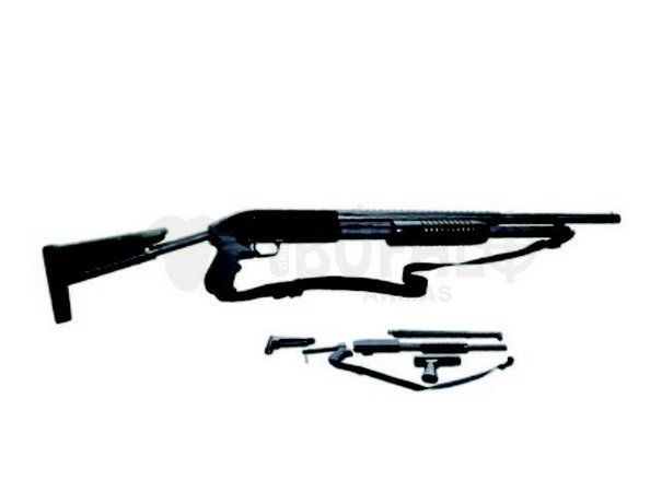 Espingarda BSA 5T 84 PUMP cal 12  com aces. (coronha retrátil,protetor cano,bandoleira,telha redonda) Oxidada ou Natural