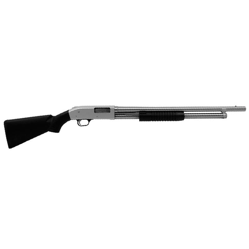 Espingarda BSA  84 PUMP cal 12 com coronha PP ou Pistol Grip - Toda Niquelada