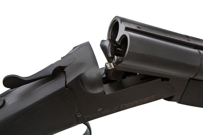 Espingarda Double Defense - Com Coronha e Telha de Madeira - Monogatilho - somente cal.20