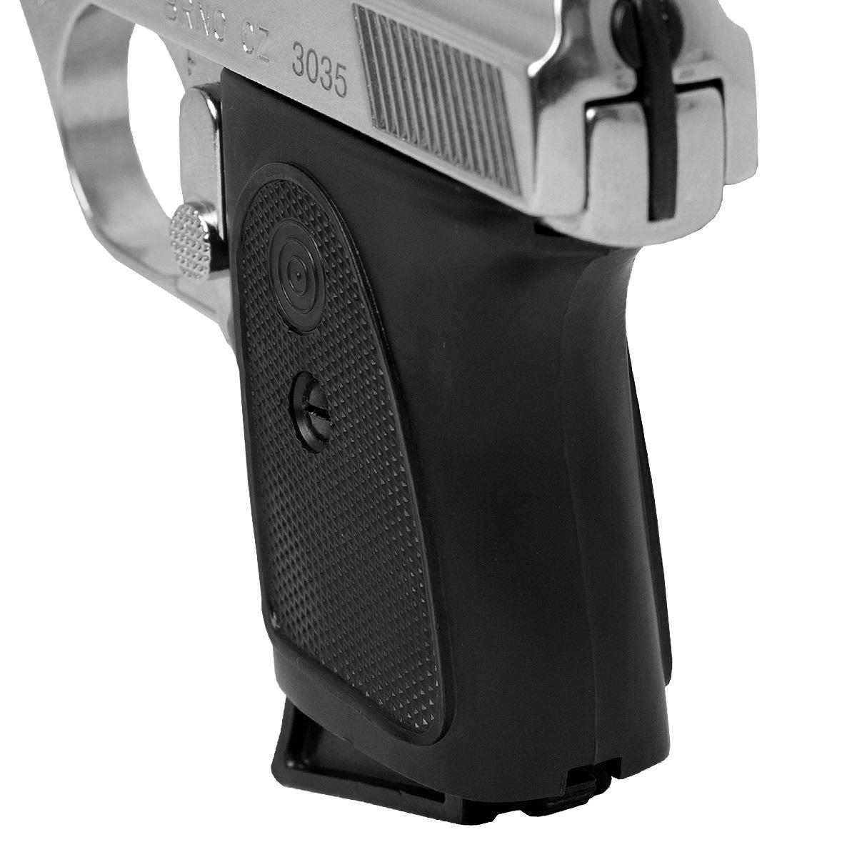 Pistola ALFA PROJ BRNO CZ3035 Cal. 6,35MM 6+1 - Niquelada