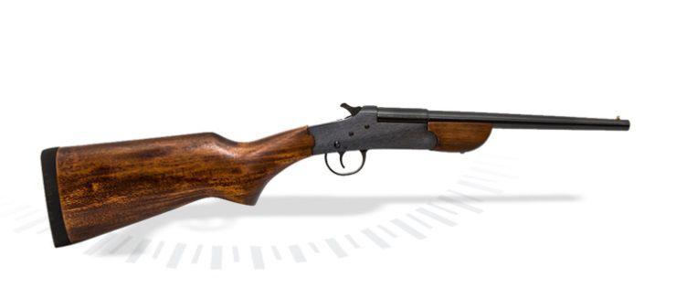 MINI-ESPINGARDA B-300 cal. 28,32 e 36 (300 mm) -  Com Coronha Longa em Madeira – Acabamento Standard Oxidado