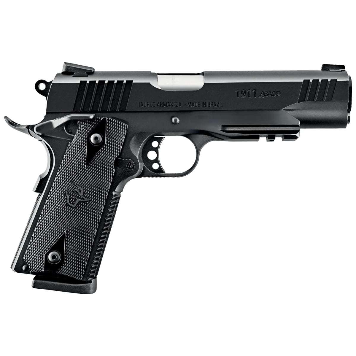 Pistola Taurus 1911 - COM TRILHO E MIRAS TRÍTIUM Cal. .45ACP