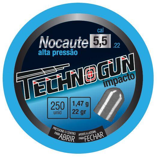 Chumbinho Nocaute Cal 5,5 - lata 250 un - Technogun