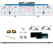 Alinhador de Direção Dianteiro e Traseiro à Laser para Uso em Vala Azul - RIBEIRO MRLASER D+T