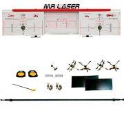 Alinhador de Direção Dianteiro e Traseiro à Laser para Uso em Vala Vermelho - RIBEIRO MRLASER D+T