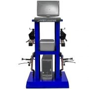 Alinhador de Direção Digital Dianteiro e Traseiro 4 Cabeças com Rack Azul - RIBEIRO MRDIGITAL 2.0 D+T