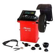 Balanceadora de Rodas Motorizada com Capô de Proteção 10 a 24 Pol. Vermelha - RIBEIRO MR7000