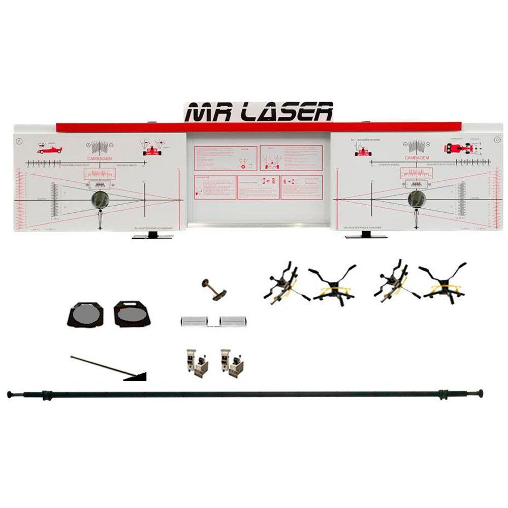 Alinhador de Direção Dianteiro e Traseiro à Laser Vermelho - RIBEIRO MRLASER D+T