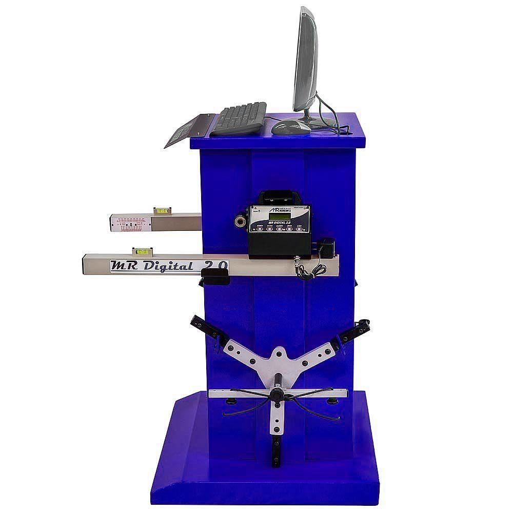 Alinhador de Direção Digital Dianteiro 2 Cabeças Azul - RIBEIRO MRDIGITAL 2.0