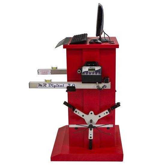 Alinhador de Direção Digital Dianteiro e Traseiro 4 Cabeças Vermelho - RIBEIRO MRDIGITAL 2.0 D+T