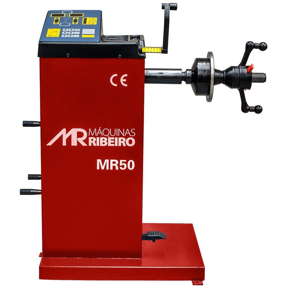Balanceadora de Rodas Manual 10 a 24 Pol. Vermelha - RIBEIRO MR50