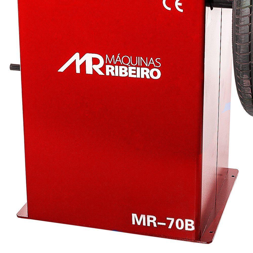 Balanceadora Motorizada com Capô de Proteção 10 a 24 Pol. Vermelha - RIBEIRO MR70B