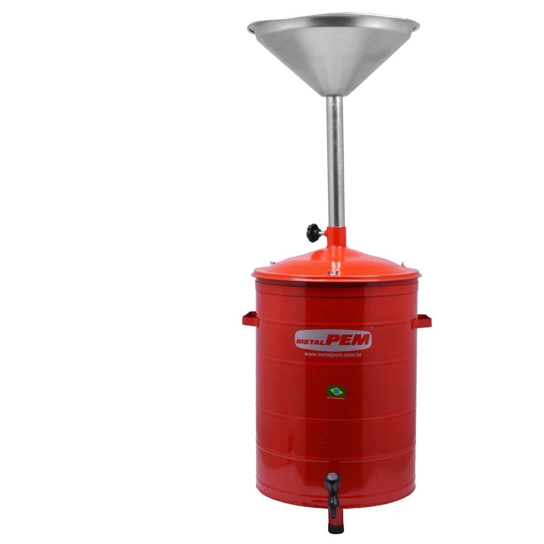Coletor de Oleo 35 Litros com Torneira de Escoamento - METALPEM CO-35